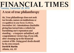 FT letter philantropy rev