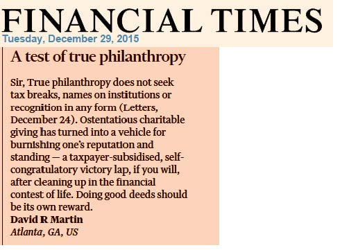 FT letter philantropy rev